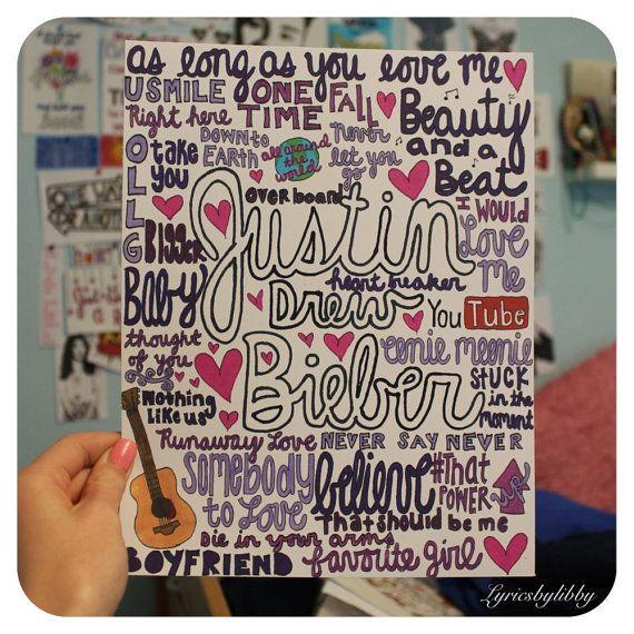 Justin Bieber Collage par lyricsbylibby sur Etsy