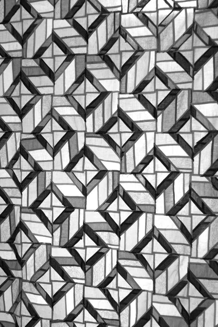 Quilt by Lauren Hunt featured at My Stars Blog - translucent, Pojagi style