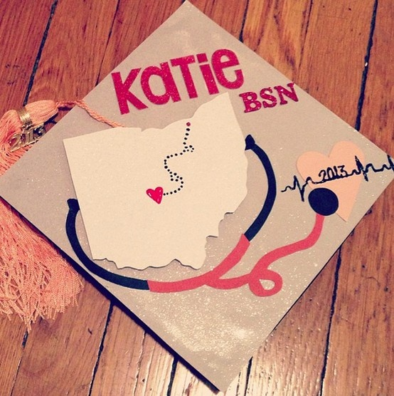 Nursing graduation cap. This would be so cute with the california state and my name!