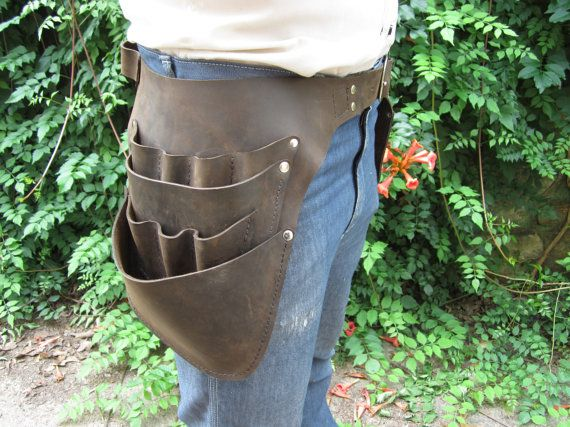 Leather Tool Belt by WheelerMunroe on Etsy. Would make a great electrician's pouch