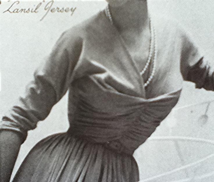 Horrockses jersey evening dress 1953