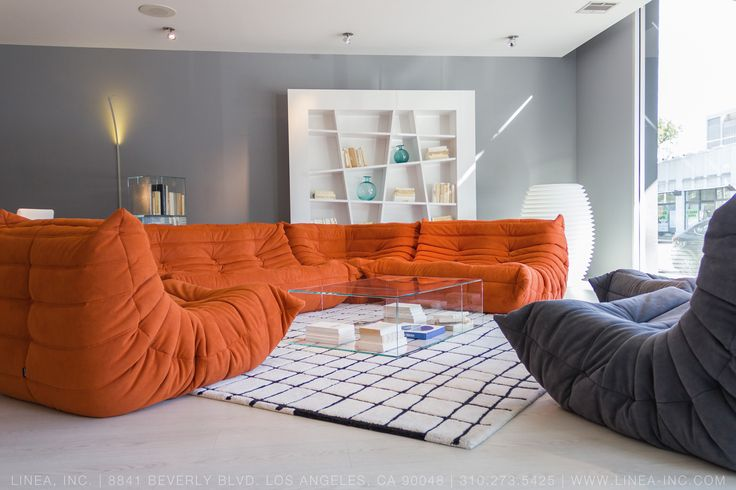 Superbe Togo Sectional In Alcantara; Quadric Rug; Saldo Coffee Table; Lines  Bookshelf. Stop · Contemporary Furniture ...