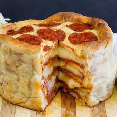 Pizza cake is my favorite