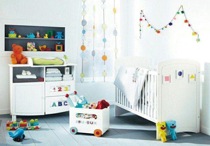 jolie chambre bebe fille ou garcon, chambre bébé mixte et meubles originaux