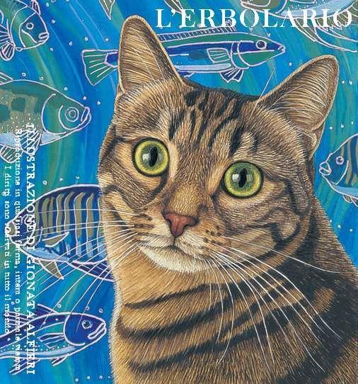 Or che l'aria si è scaldata, ti puoi far la passeggiata! Ma, stai accorto quando esci... Di questi tempi, trovi... i pesci! No burlone, non leccarti tutti i baffi e muovi ben tutti i tuoi passi... Questi, son pesci pericolosi! Soprattutto per i gatti... curiosi! Portan scherzi a non finire, sono i pesci d'Aprile!