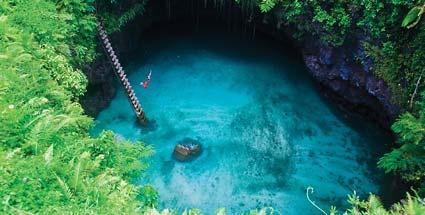 To Sua Ocean Trench auf Samoa.