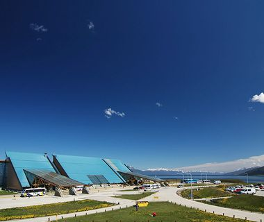 World's Most Beautiful Airport Malvinas Argentinas Airport, Ushuaia, Argentina Beauty Mark: The airport sits directly on the Beagle Channel, named for the H.M.S. Beagle, the vessel that carried Charles Darwin to South America.