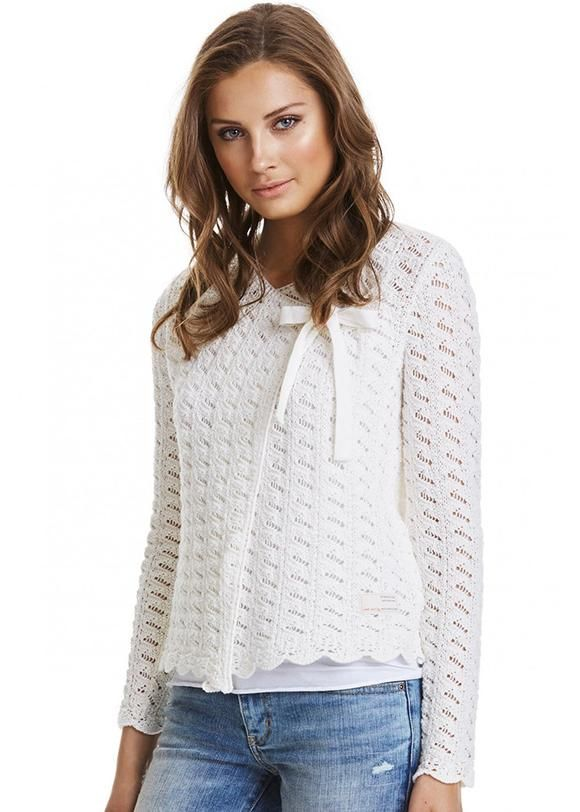 Cremehvid Cardigan 317M-311 Lovebird Cardigan - light chalk