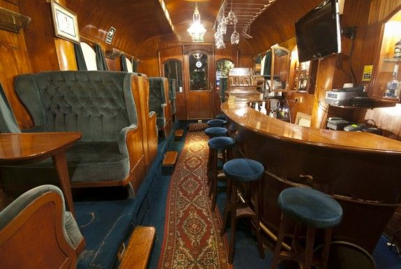 Bar Orient Express, Lima, Peru.  This is a bar on a street in Lima made to look like a train car.  I love, love, love it.