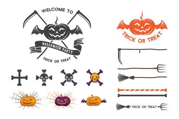 Halloween logo elements by valeri_si on Creative Market