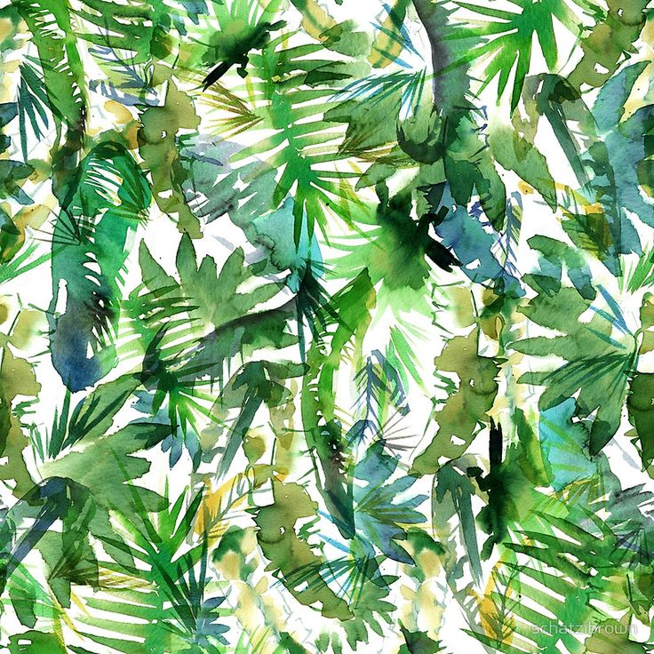 Tropical pattern by Schatzibrown • Buy this artwork on apparel, phone cases, home decor, and more.