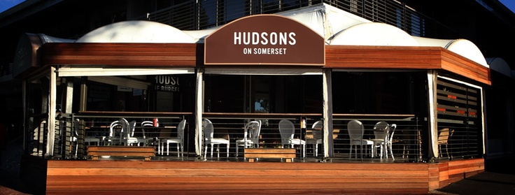 Hudsons in Somerset Road - CNR Portswood and Somerset Road  Green Point, for reservations call 021-433 1496