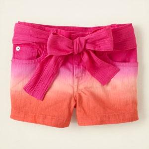 dip dye shorts - slim