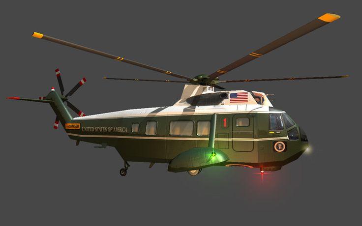 Marine Helicopter (Animated)