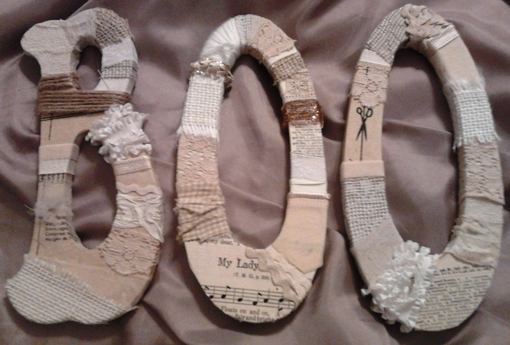 Shabby Chic Halloween Decor - might use old newspapter, twine, fabric scraps and burlap for this :)  love it!!