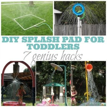 Beat the heat and win summer with any one (or a combination of), these amazing sprinkler and splash-pad style DIYs!