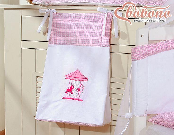 "Pink diaper bag ""Carousel"" / Bobono"