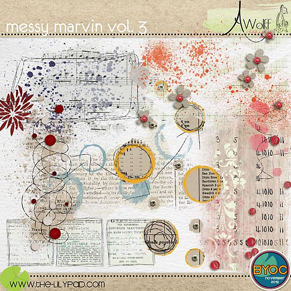 messy marvin vol. 3 | Amy Wolff, painted collage type elements