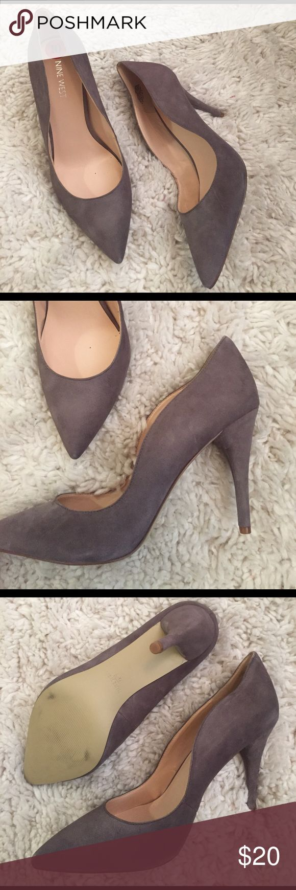 Nine West size 10 soft heels Nine West brand. Size 10. Worn once, perfect condition. Nine West Shoes Heels