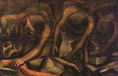 Siqueiros - accidente en la mina (1931)