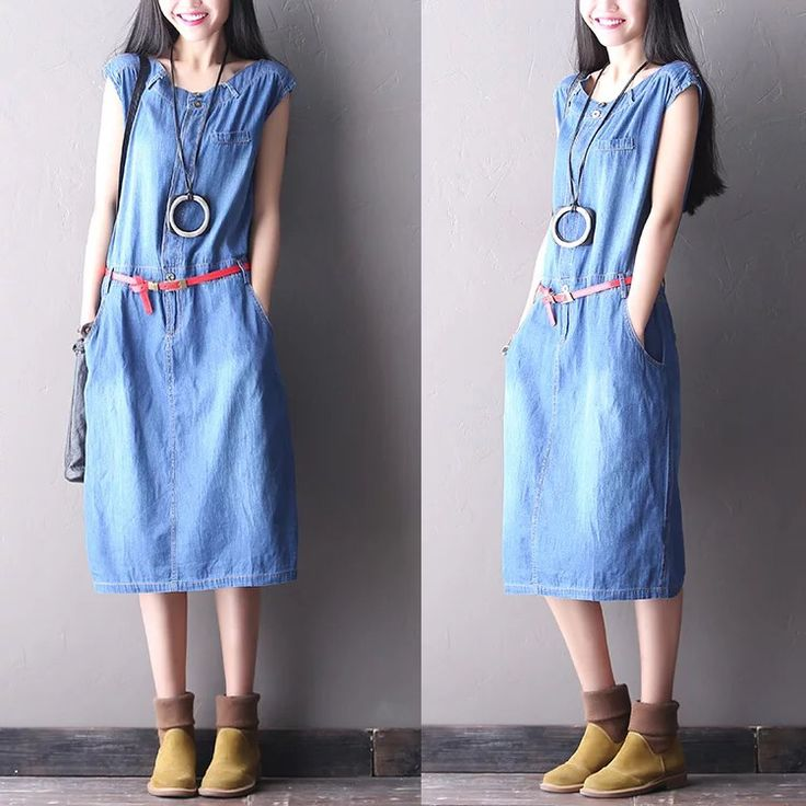 Cotton cowboys long dress women clothes