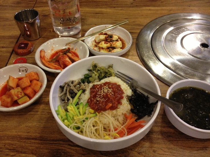 Typické korejské jídlo