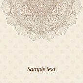Karte oder Einladung. Mandala. Alte dekorative Elemente. Handgezeichnete Hintergrund. Islam, Arabisch, Indisch, osmanische Motive — Stockvektor #77496430