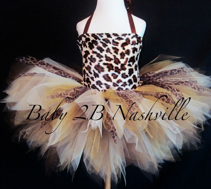Girls Safari Cheetah Tutu Outfit Size Baby to by Baby2BNashville, $73.00