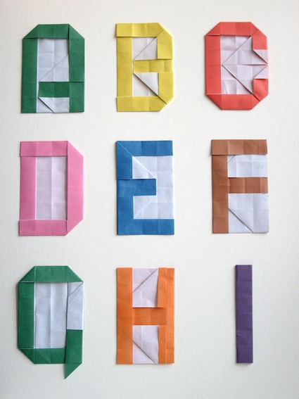 #DIY alphabet with origami #origami, #DIY