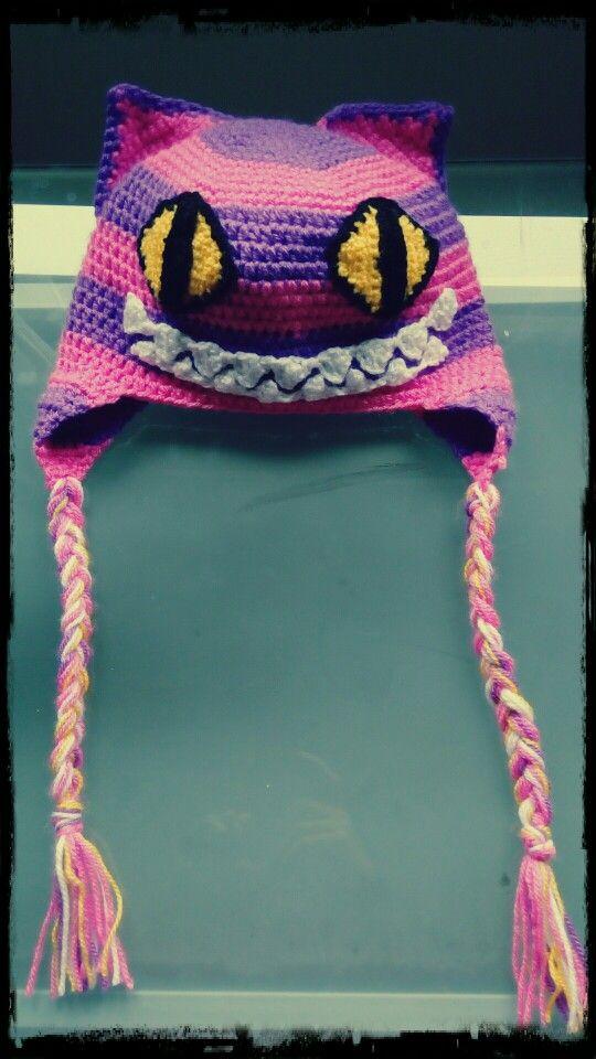#Gorroconorejeras #Chesire #crochet #ganchillo
