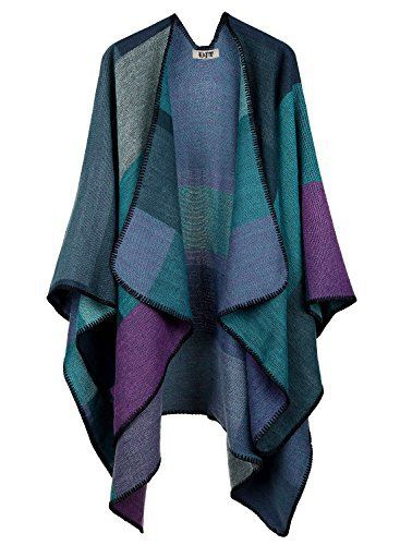 New Trending Outerwear: DJT Womens Plaid Pattern Wrap Shawl Poncho Cape One Size Purple. DJT Women's Plaid Pattern Wrap Shawl Poncho Cape One Size Purple   Special Offer: $20.99      277 Reviews Size Guide Free size: 155cm * 135cm Please allow 1-2cm differs due to manual measurement. Dry cleanOpen-front poncho style,high/low hemMultifunctional:cardigan, scarf, blanket,...