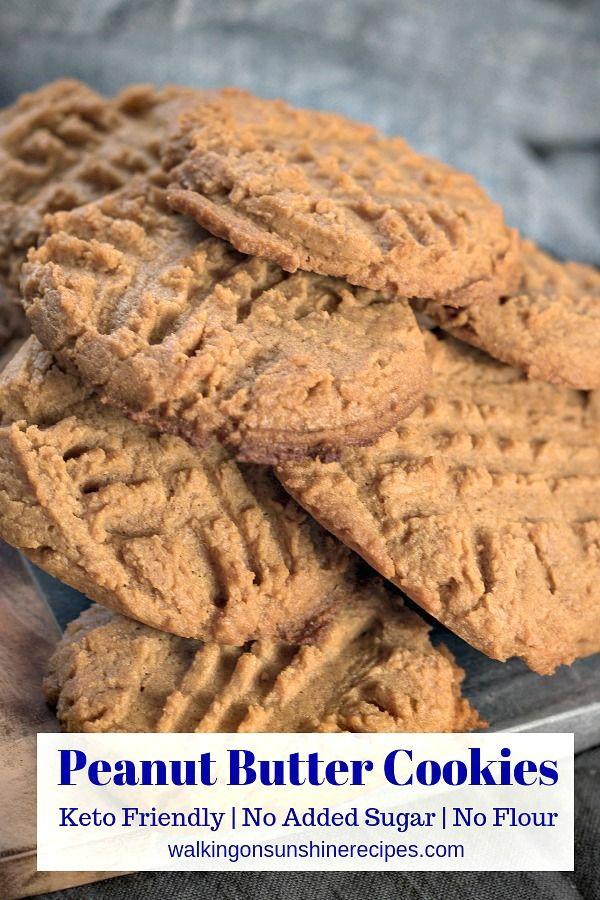 No Sugar No Flour Peanut Butter Cookies Recipe Cookies Almond