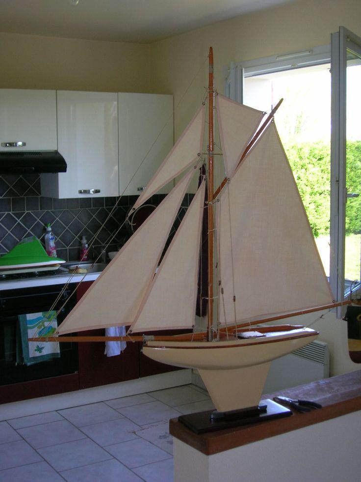 D tails sur canot voilier de bassin charles deffain 1920 1930 cinq voiles ebay - Voilier de bassin ancien nanterre ...