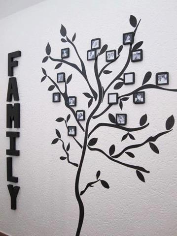 Arvore genealógica com fotos