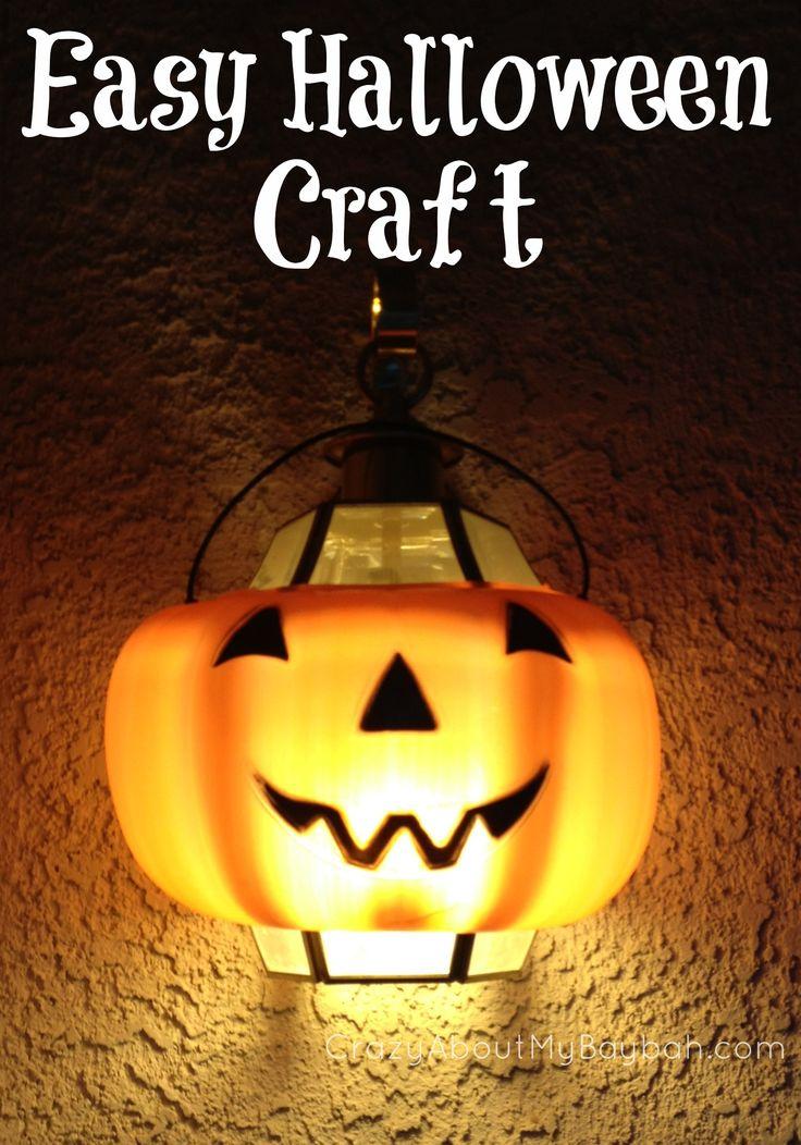 Easy Halloween Craft   Pumpkin Light #Halloween #Pumpkin