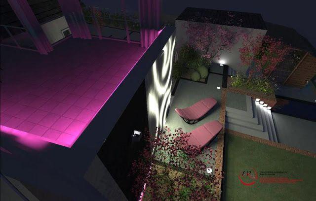 projekt nowoczesnego ogrodu z różnicą wysokości