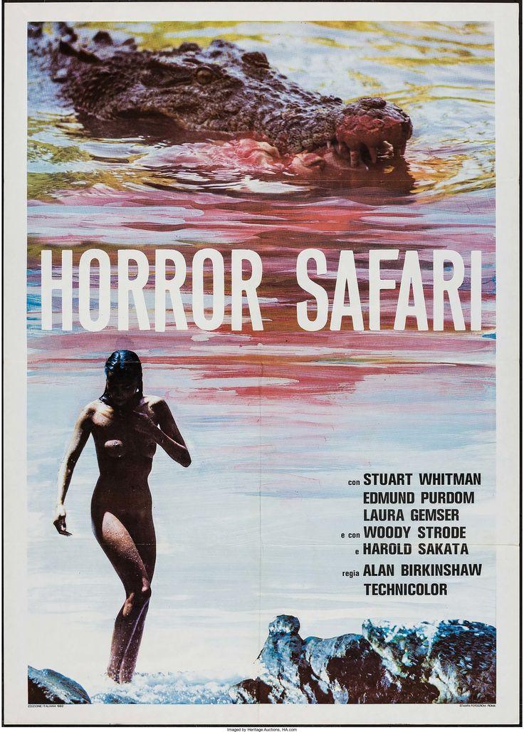 "Horror Safari (Rex Film, 1982). Italian 2 - Fogli (39"" X 55""). Horror.  Starring Stuart Whitman, Edmund Purdom, Woody Strode, Harold Sakata, and Laura Gemser. Directed by Alan Birkinshaw."