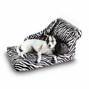 Chaise Lounge Black Zebra now featured on Fab.