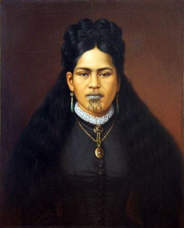 Maori Princess by Gottfried Lindauer. Love the cross culture imagery.