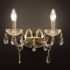 Resultado de imagem para arandela de cristal para uma lampada