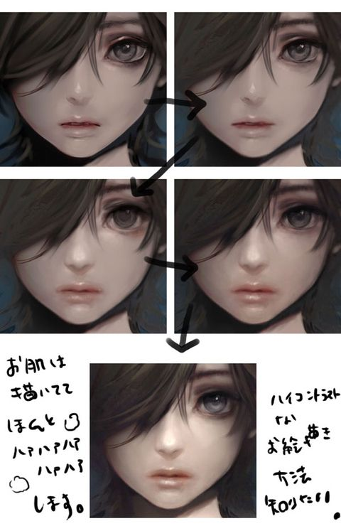 Semi realistic eyes reference