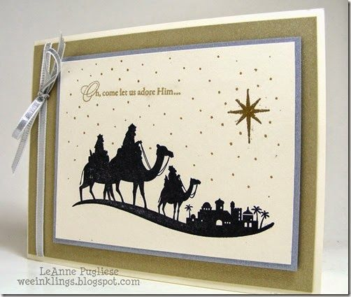LeAnne Pugliese: Wee Inklings Merry Monday 122 Come to Bethlehem Christmas Stampin Up - 8/18/14