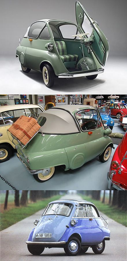 BMW Isetta 1956- so much cooler than the smart car. want more? visit - http://themotolovers.com