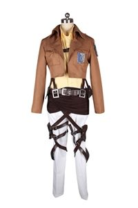 This cool girl's costume from the anime series of Attack on Titan. It is a costume of a strong female character Hanji Zoe.