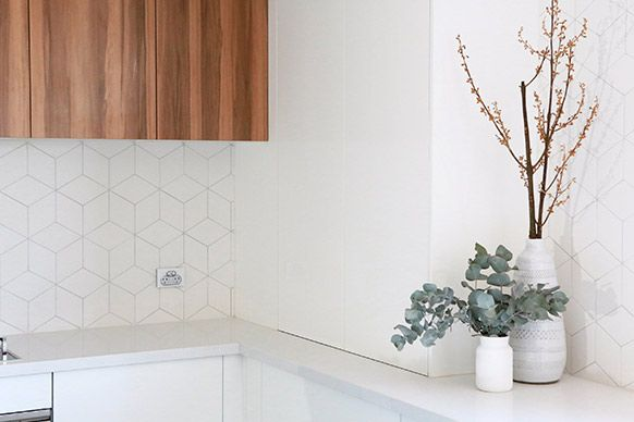 Love the tiles! The Block Sky High: Room Reveal: Trixie + Johnno's kitchen