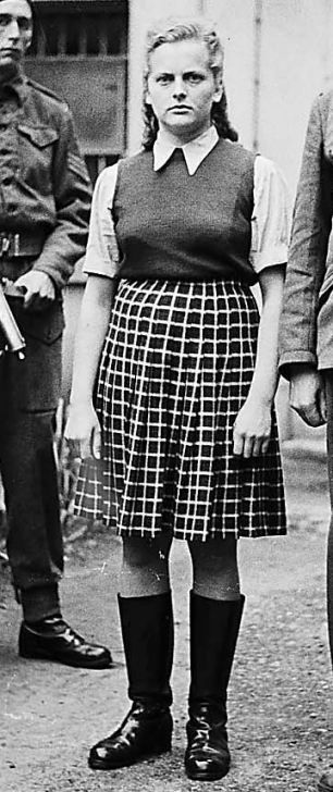 Nicknamed the Beautiful Beast. Irma Grese was a concentration camp guard and one of the few women to be called to account for her crimes. She was hanged in 1945 at the age of 22.