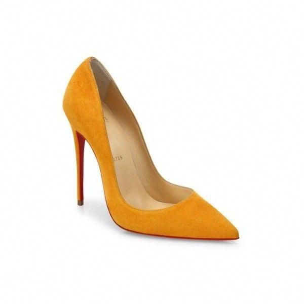 6b97b9790391 Christian Louboutin Yellow So Kate Full Moon Suede Mustard Stiletto...  ( 48) ❤ liked on Polyvore featuring shoes