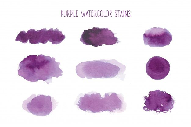 Download Purple Watercolor Stain Collection For Free In 2020