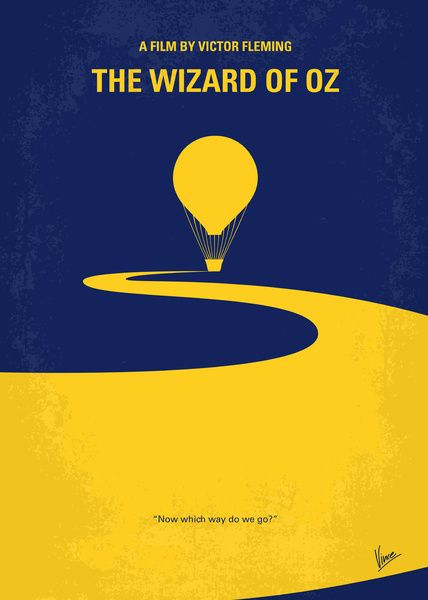 Minimalist with Complementing Colors // Movie Friday: 14 'The Wizard of Oz' Alternative Movie Posters