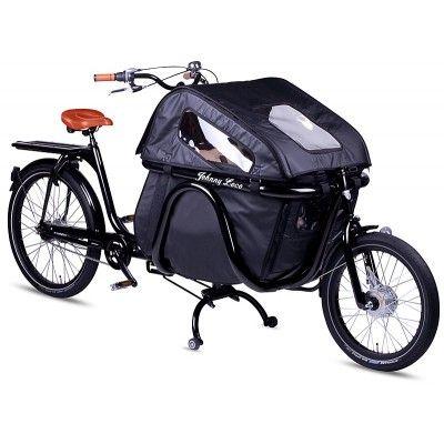 Rower Transportowy Johnny Loco Montana Negra. Idealny w przypadku kapryśnej jesiennej pogody. http://damelo.pl/rowery-miejskie-transportowe/425-rower-transportowy-johnny-loco-montana-negra.html